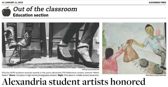 Alexandria Times Reflections Coverage, Jan11, 2018