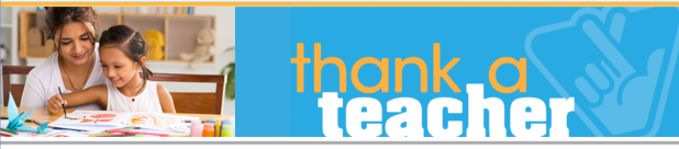 Thank a Teacher Contest Banner