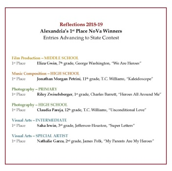 Alex Winners Competing in Va Contest 2018-19